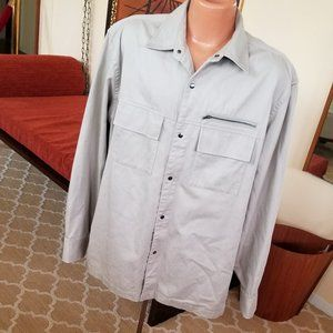Banana Republic Heavy Khaki Shirt Jacket Size XL